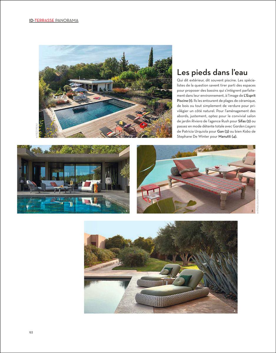 Les pieds dans l'eau article magazine ideat terrasse panorama les pieds dans leau
