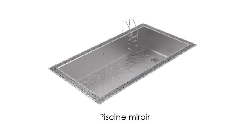 Piscine inox miroir