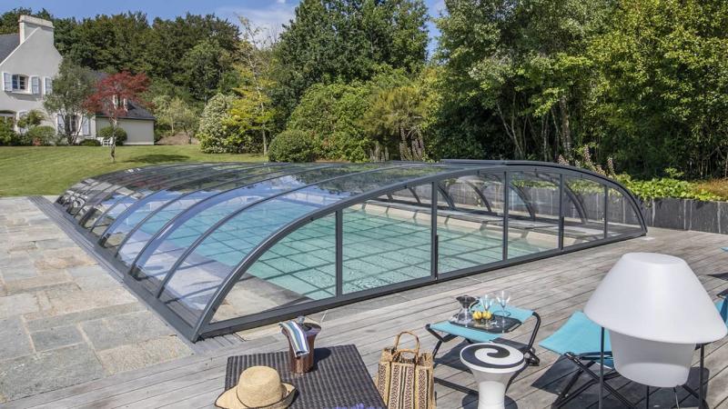 3D Grège Abris de piscine