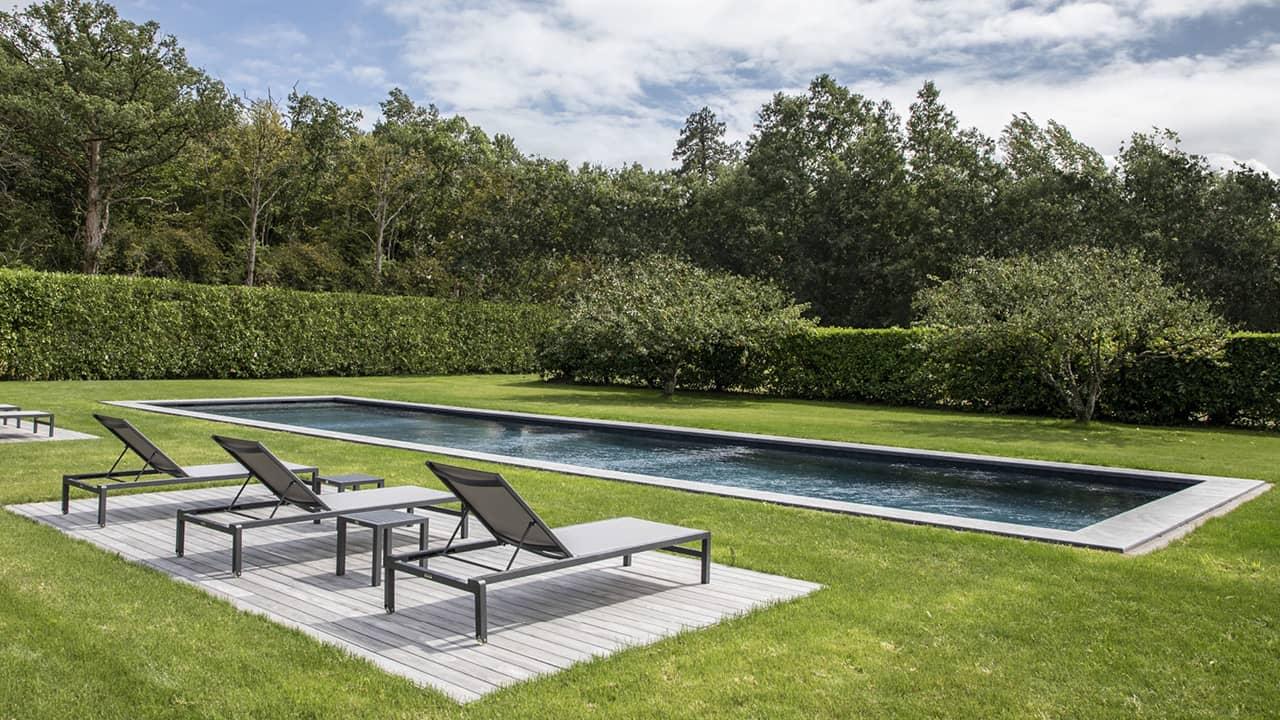 Jardin au cœur bleu couloir nage nature esprit piscine 2020 33 Couloir de nage 3D Gris ardoise