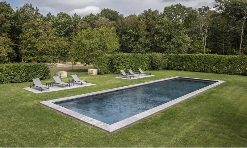 Couloir de nage 3D Gris ardoise  Jardin au cœur bleu