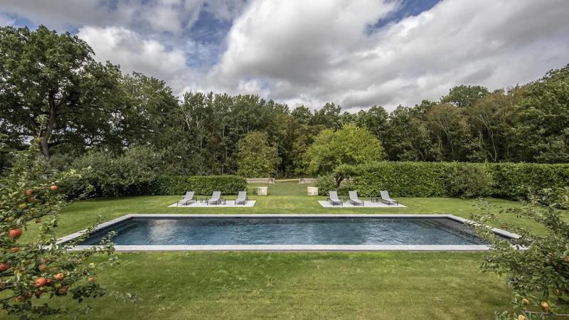 Jardin au cœur bleu couloir nage nature esprit piscine 2020 37 Couloir de nage 3D Gris ardoise