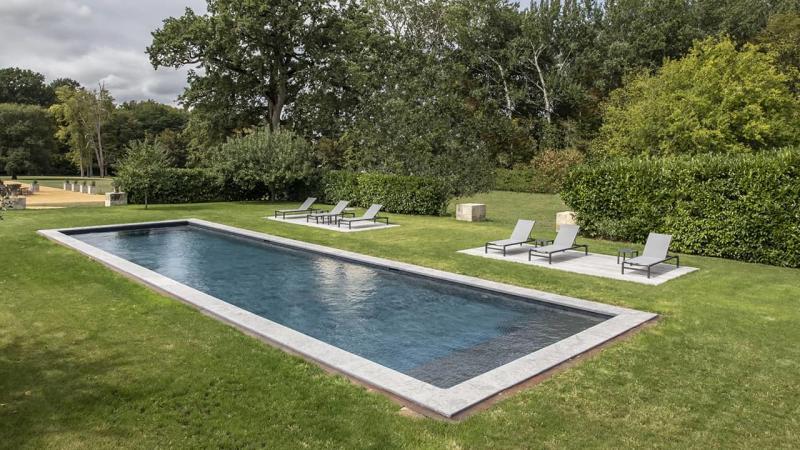 Jardin au cœur bleu couloir nage nature esprit piscine 2020 38 Couloir de nage 3D Gris ardoise