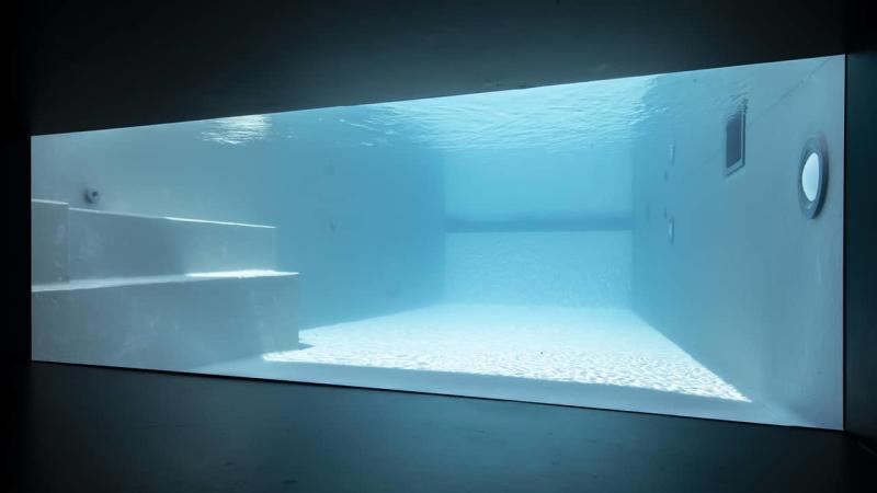 Cadre d'eau piscine hublot verre esprit piscine 2020 100 Piscine à paroi vitrée Gris anthracite