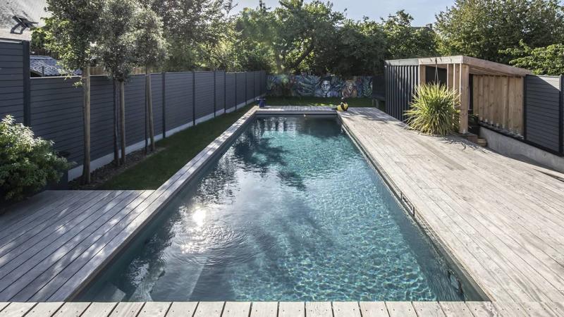 Cadre d'eau piscine hublot verre esprit piscine 2020 96 Piscine à paroi vitrée Gris anthracite