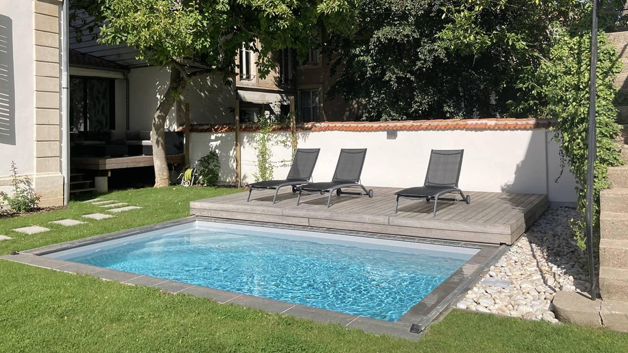 Eclipse d'eau piscine terrasse mobile esprit piscine 2020 121 Piscine avec terrasse mobile Gris clair