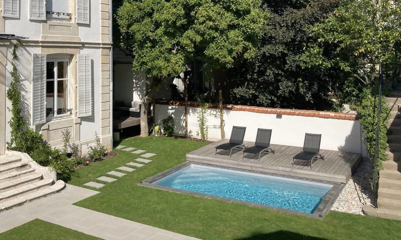 Piscine avec terrasse mobile Gris clair  Eclipse d'eau