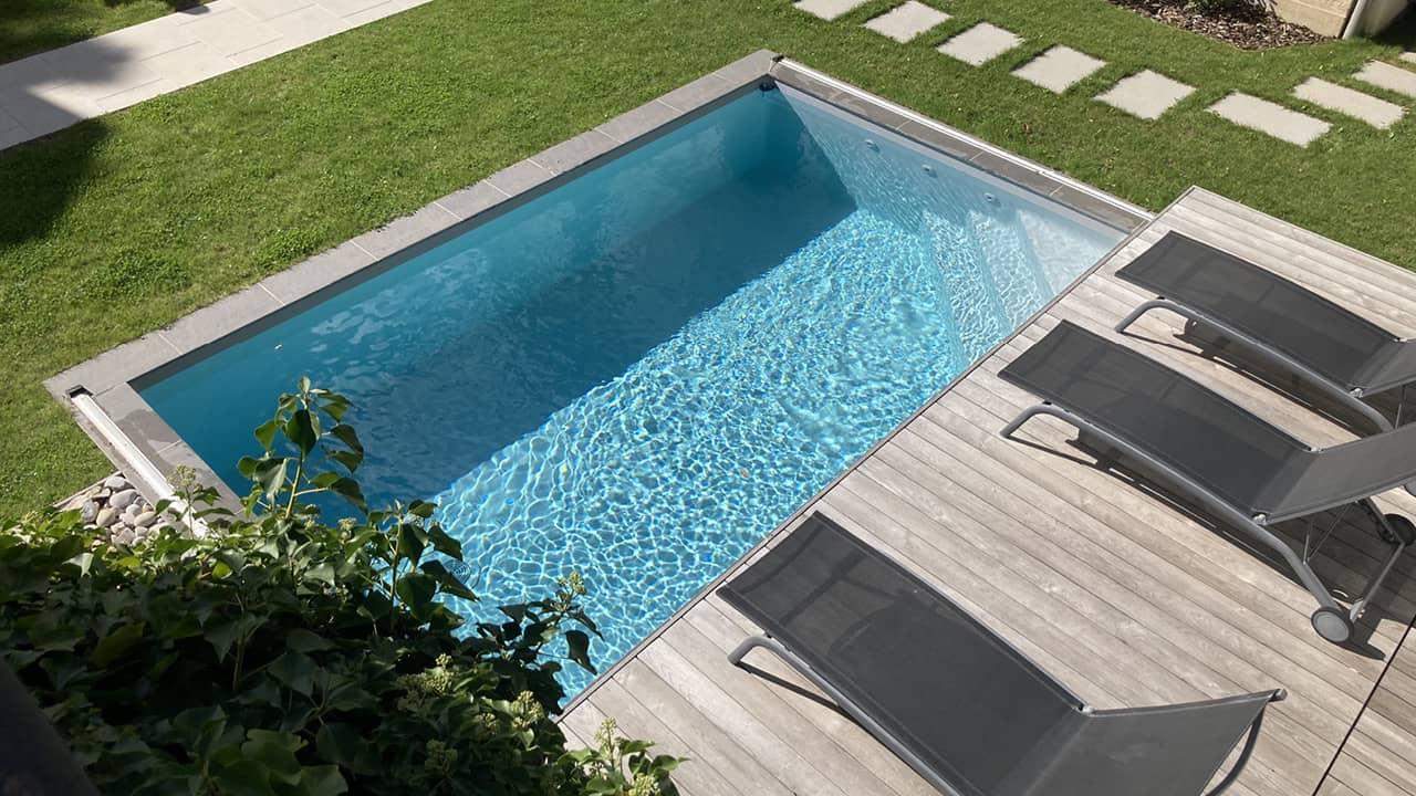 Eclipse d'eau piscine terrasse mobileesprit piscine 2020 124 Piscine avec terrasse mobile Gris clair