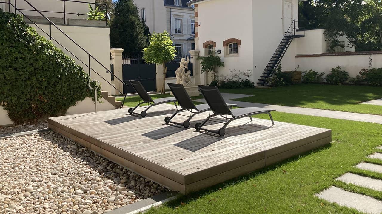Eclipse d'eau piscine terrasse mobileesprit piscine 2020 127 Piscine avec terrasse mobile Gris clair